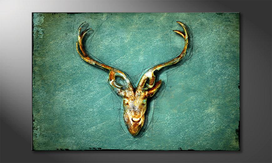 La bella pittura The Deer