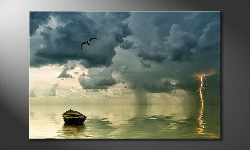 Lonely Boat quadro