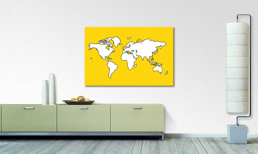 Map of the World quadro