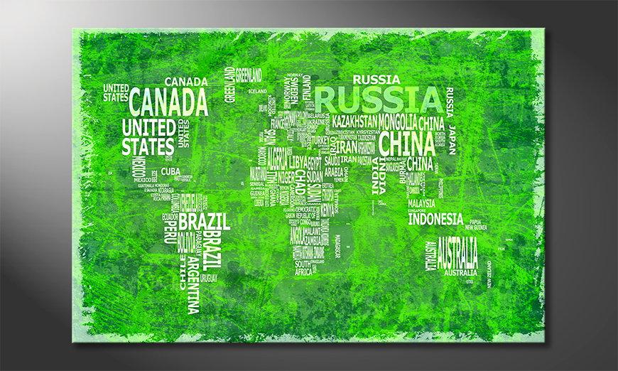 Mappamondo 16 quadro