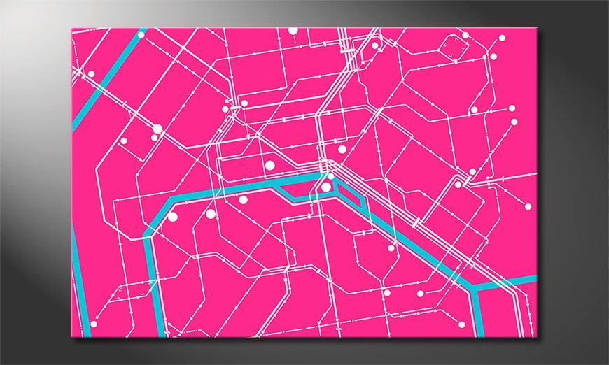 Metro Paris quadro