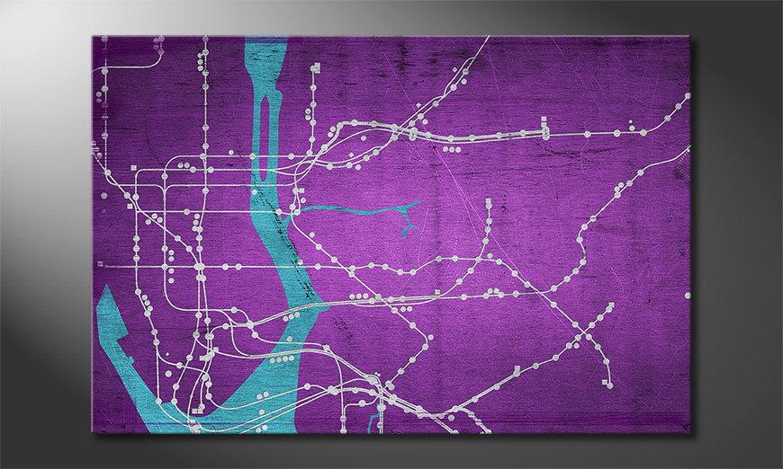 New York Metro quadro