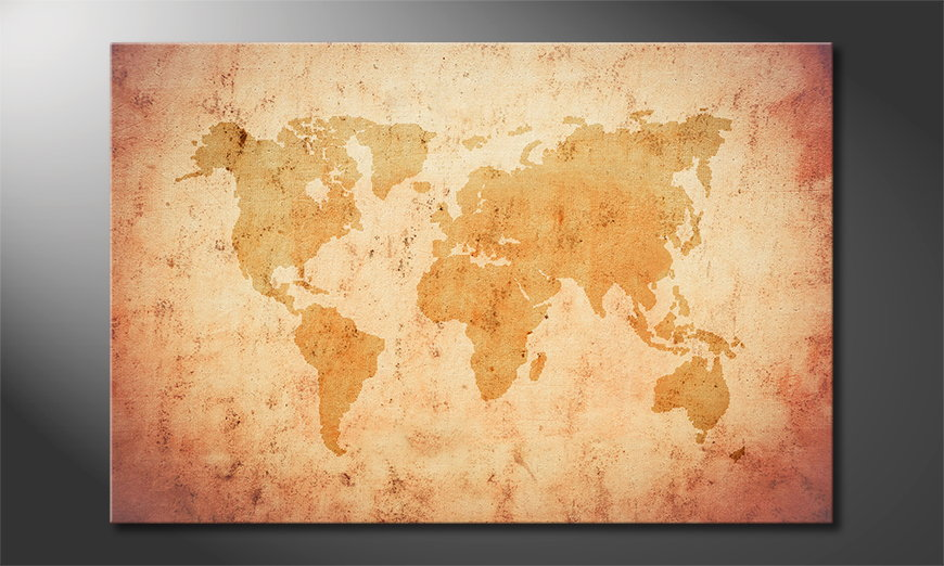 Old Worldmap quadro