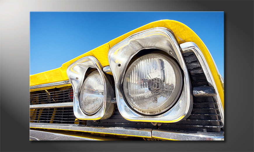 Oldtimer Headlights tela