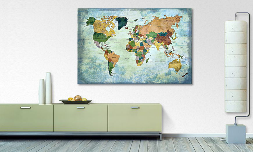Oldworldmap one quadro