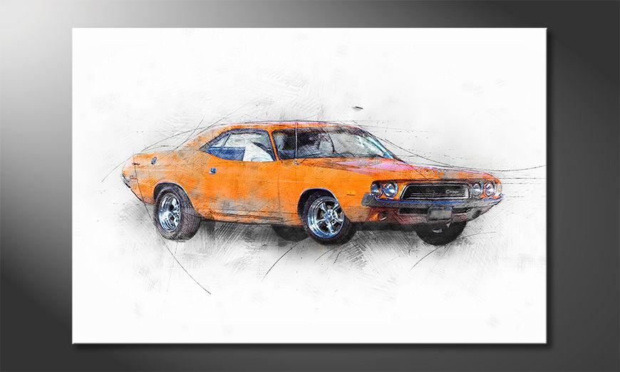 Orange Muscle Car quadro moderni