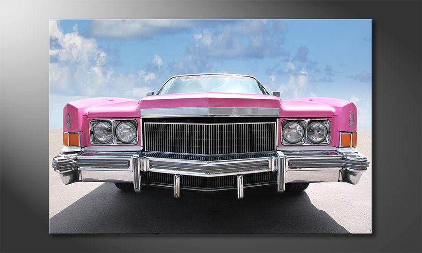 Pink Cadillac quadro