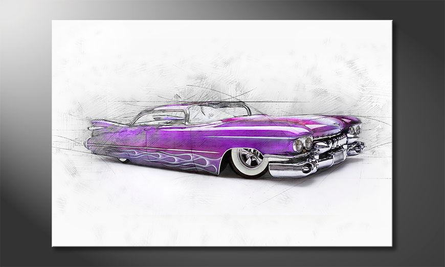Pink Cadillac quadro moderni