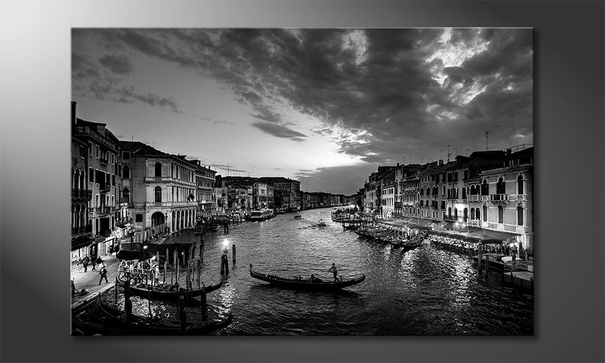 Stampa su tela Canal In Sunset