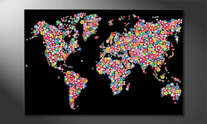 World Flowers tela