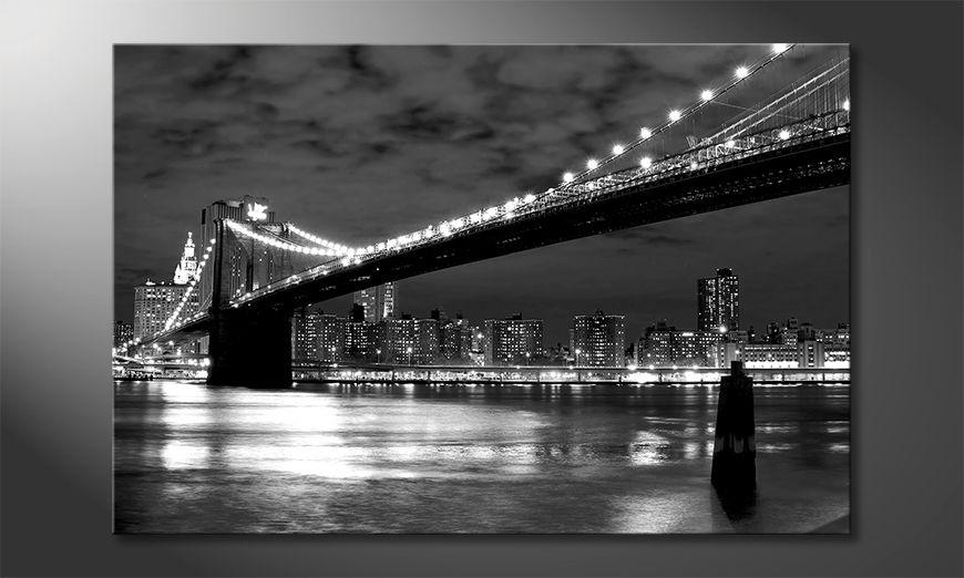 Stampa su tela moderna Brooklyn Bridge