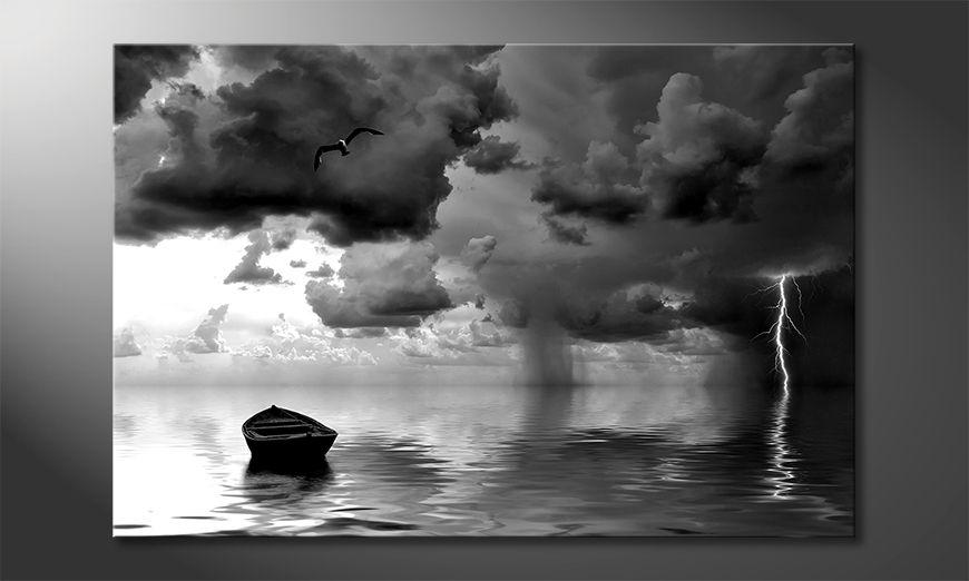 Stampa su tela moderna Lonely Boat