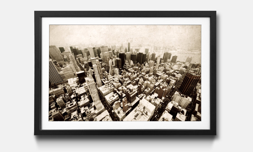Il quadro con cornice New York Vintage Retro