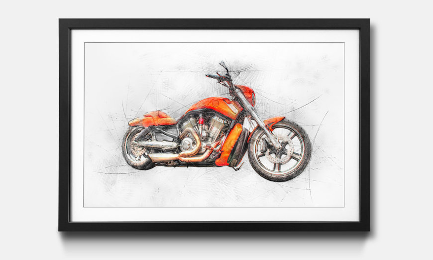 Il quadro con cornice Orange Drive