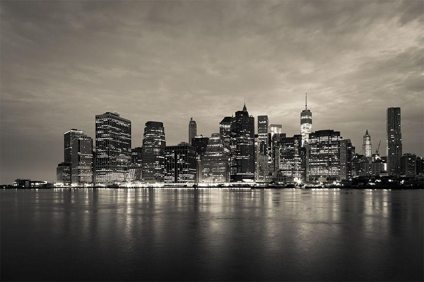 Carta da parati New York Manhattan notturna