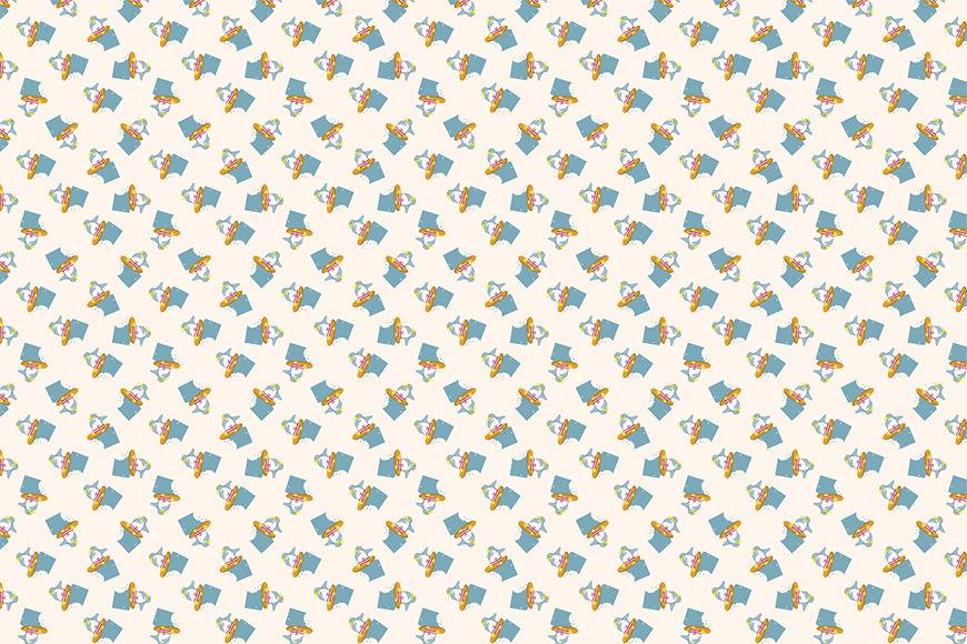 Carta da parati Pinguino d'estate da 120x80cm