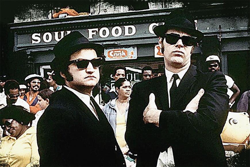 Carta da parati con foto Blues Brothers da S a XXL