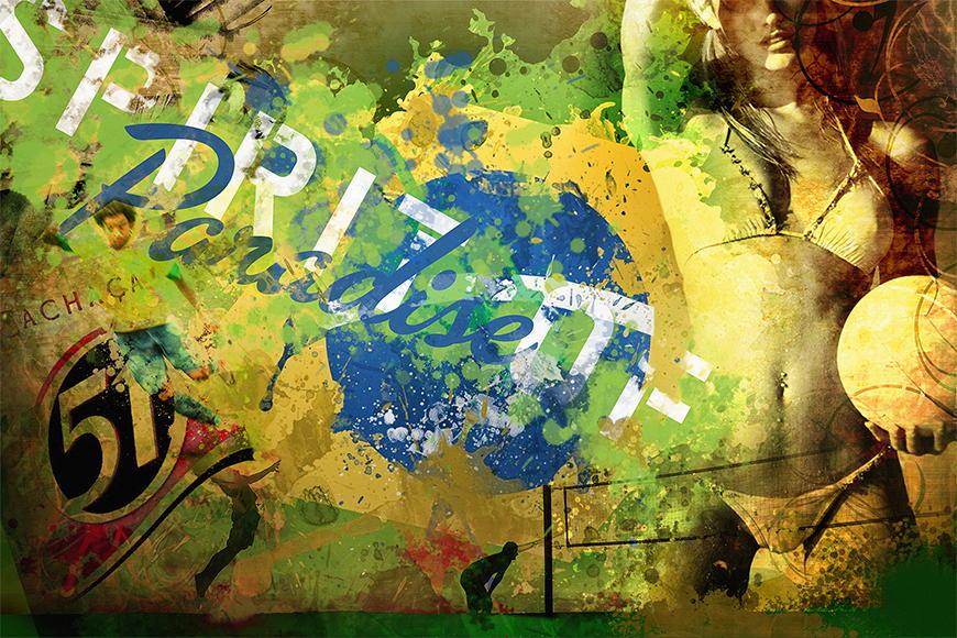 Carta da parati con foto Brazil da 120x80cm