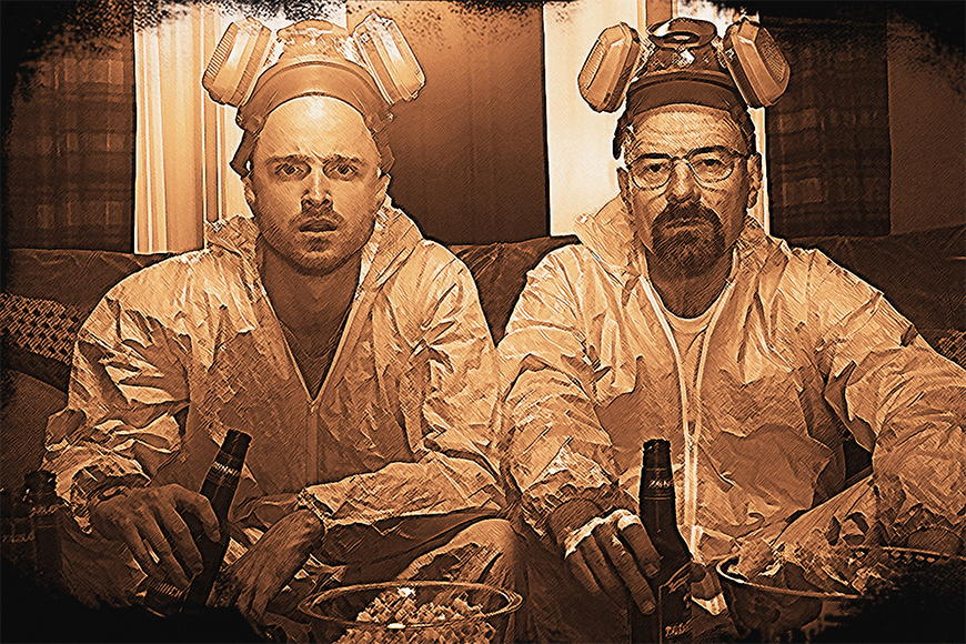Carta da parati con foto Breaking Bad da 120x80cm
