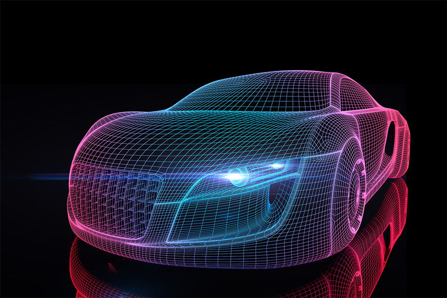 Carta da parati con foto Car from Future da S a XXL