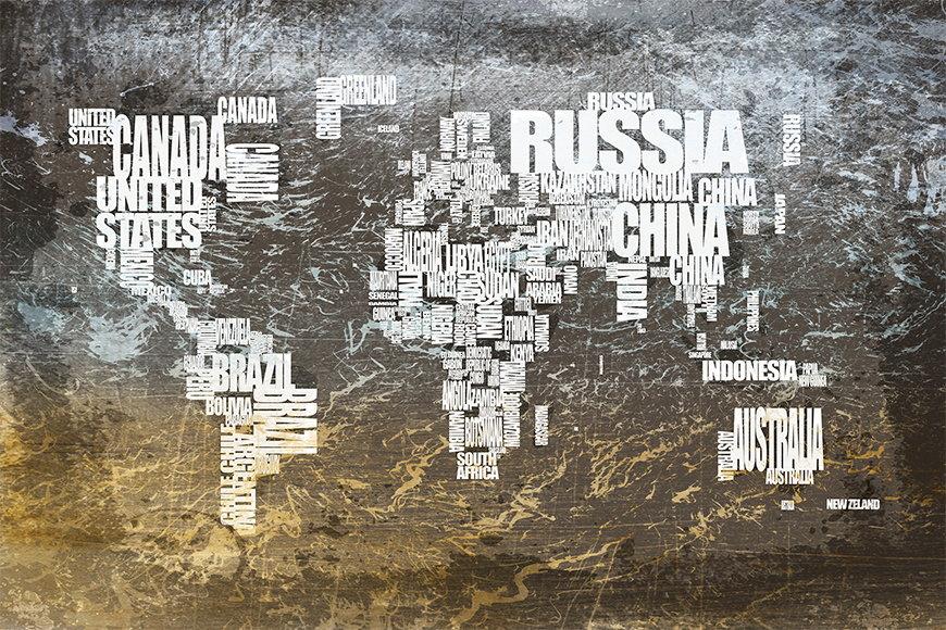 Carta da parati con foto Carta del mondo 20 da 120x80cm