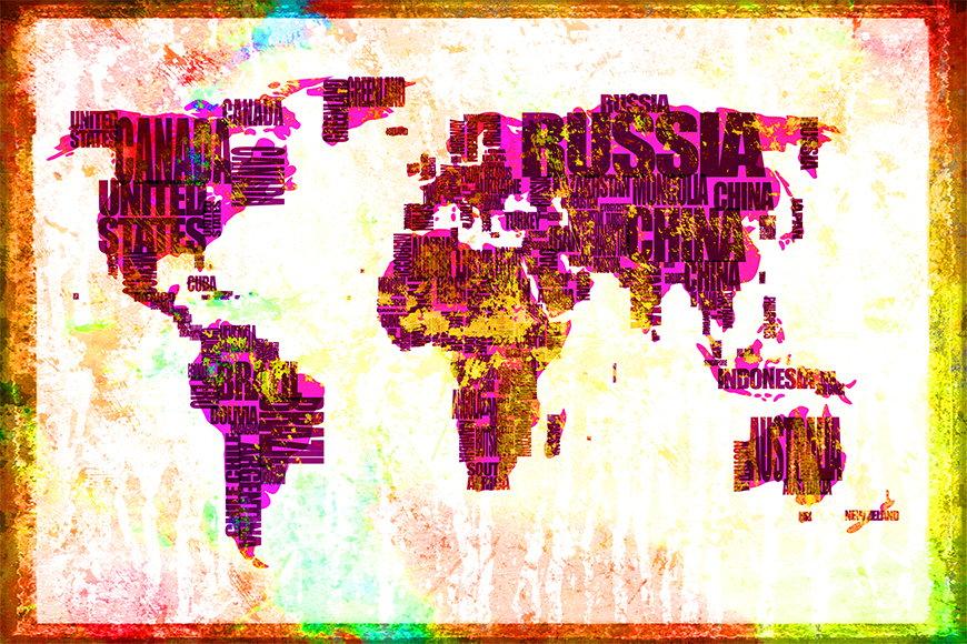 Carta da parati con foto Carta del mondo 3 da S a XXL