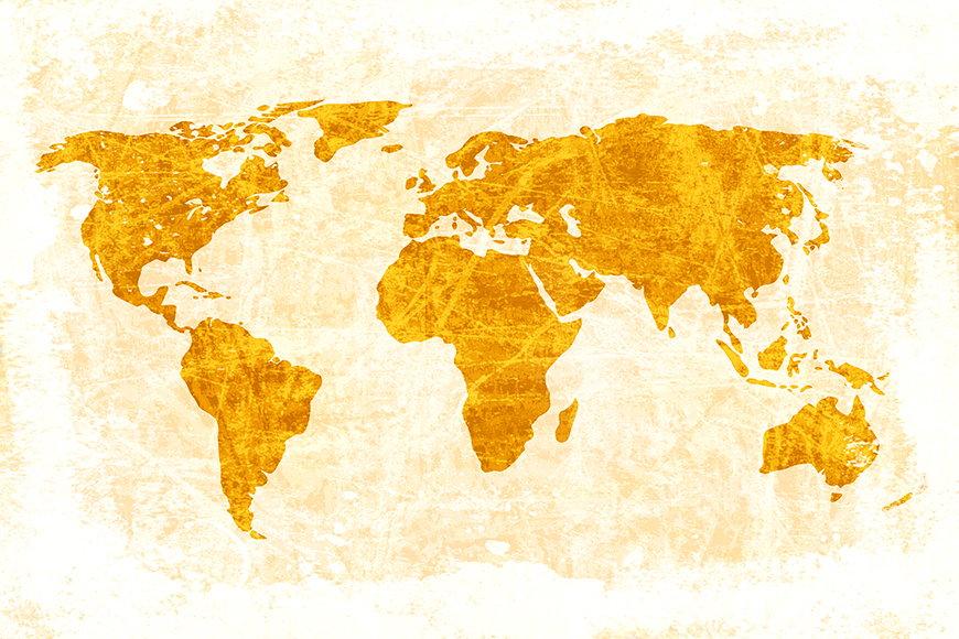Carta da parati con foto Carta del mondo 7 da S a XXL