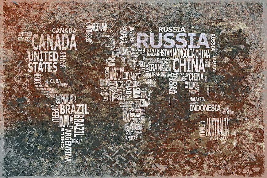 Carta da parati con foto Carta del mondo 8 da 120x80cm