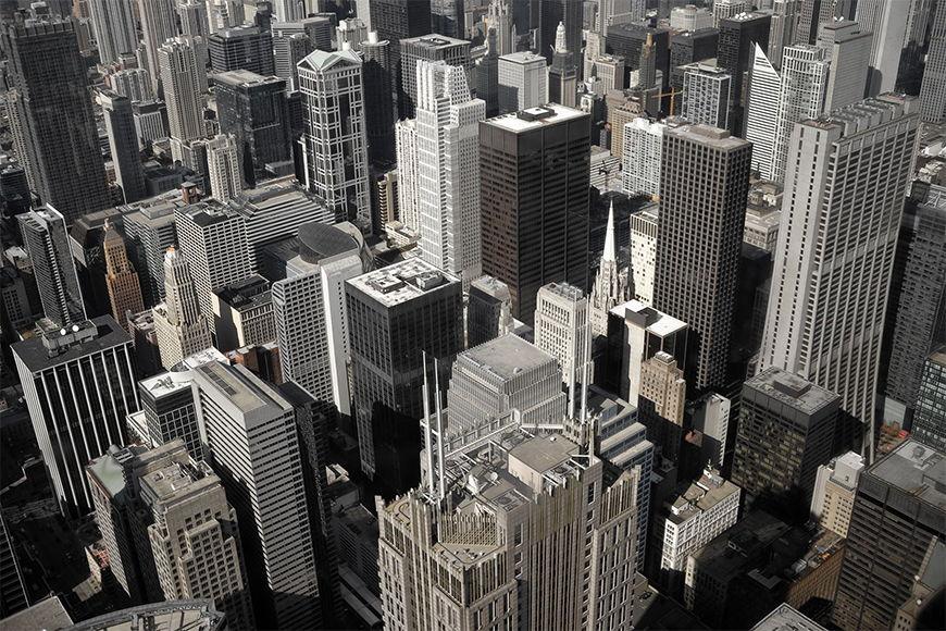 Carta da parati con foto Chicago City da S a XXL