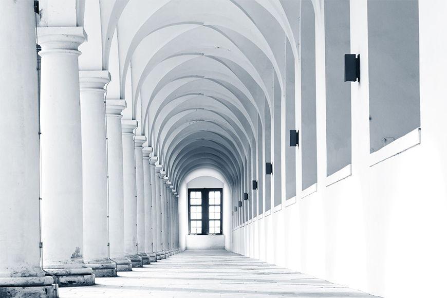 Carta da parati con foto Columns Gallery da 120x80cm
