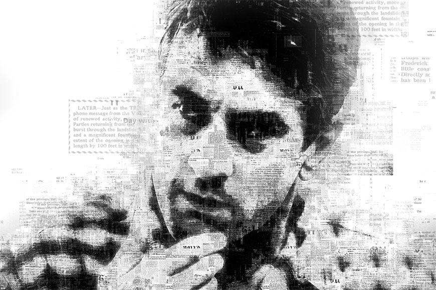 Carta da parati con foto De Niro da 120x80cm