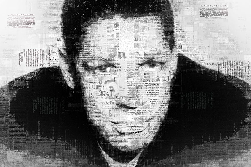 Carta da parati con foto Denzel da 120x80cm