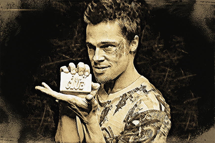 Carta da parati con foto Fight Club da 120x80cm