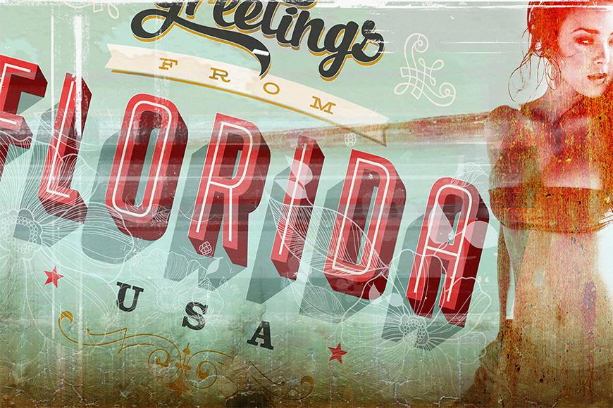 Carta da parati con foto Floridagirl da 120x80cm