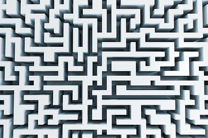 Carta da parati con foto Il labirinto da 120x80cm