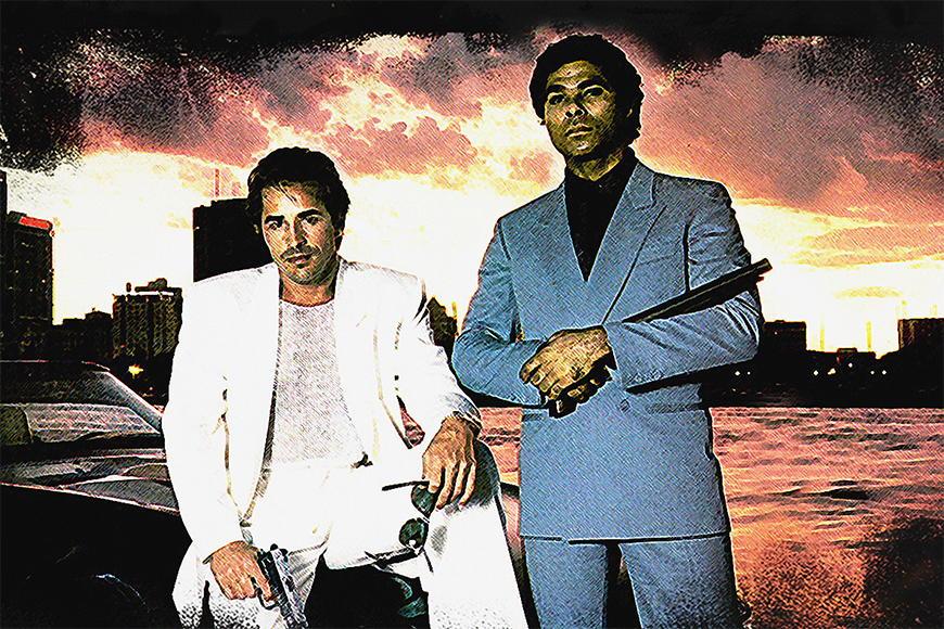 Carta da parati con foto Miami Vice da 120x80cm