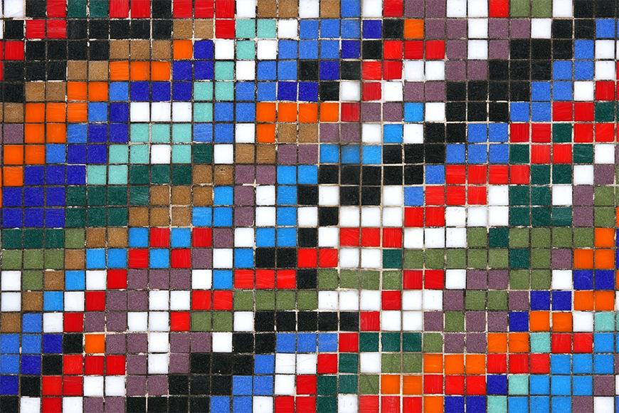 Carta da parati con foto Mosaic Wall da 120x80cm