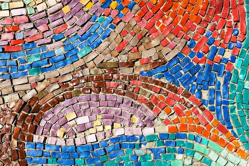 Carta da parati con foto Mosaico colorato