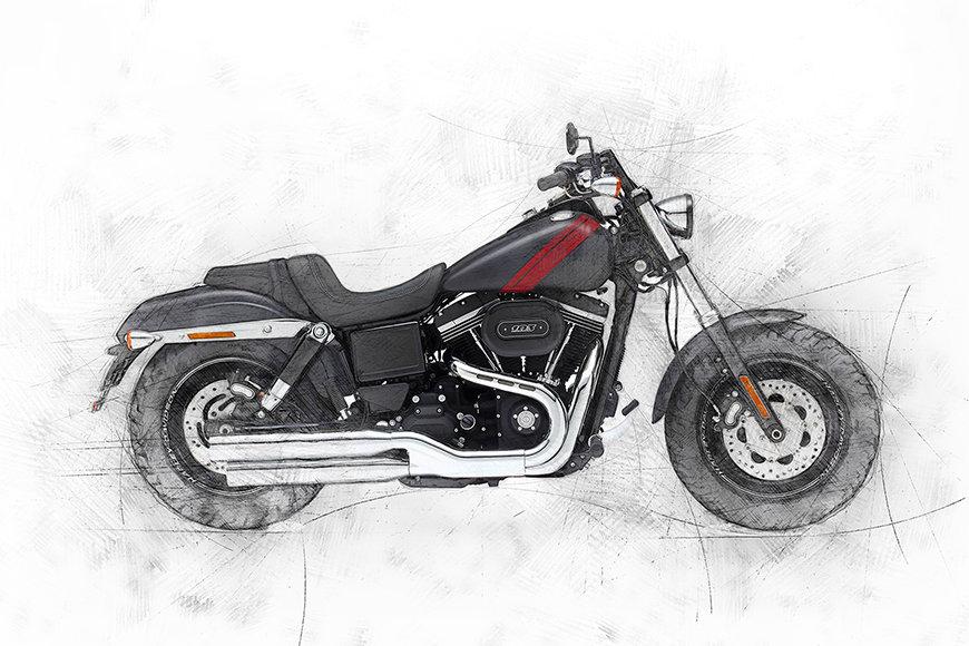 Carta da parati con foto Motorbike Uno