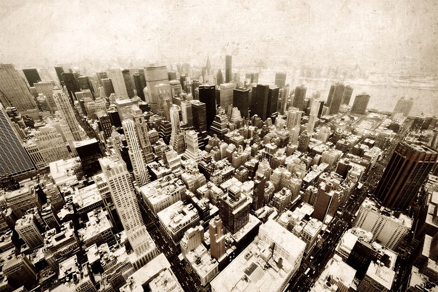Carta da parati con foto Old New York da 120x80cm