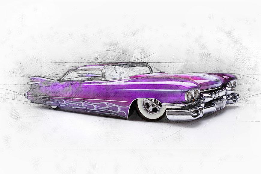 Carta da parati con foto Pink Cadillac