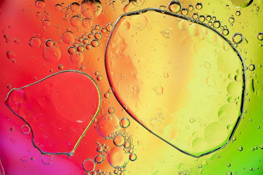 Carta da parati con foto Rainbowdrops da S a XXL