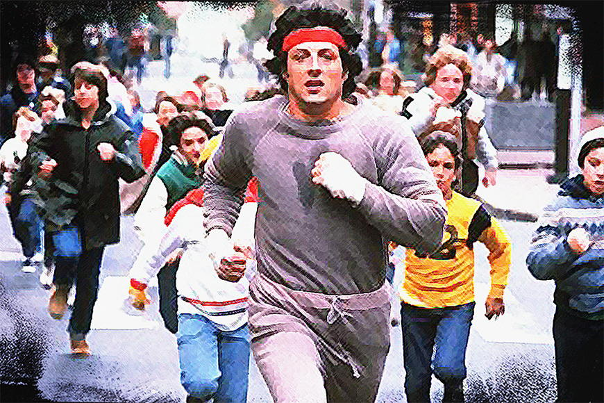 Carta da parati con foto Run Rocky Run da S a XXL