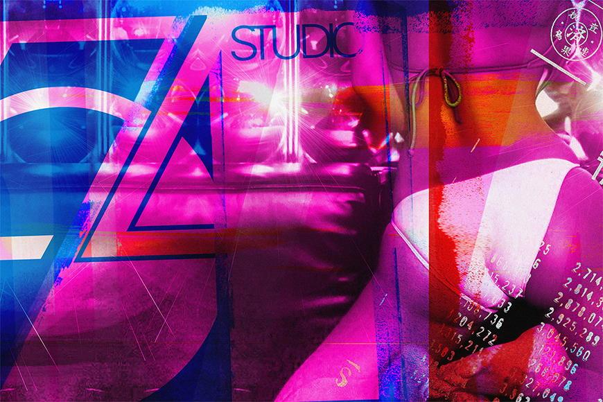 Carta da parati con foto Studio 54 da 120x80cm
