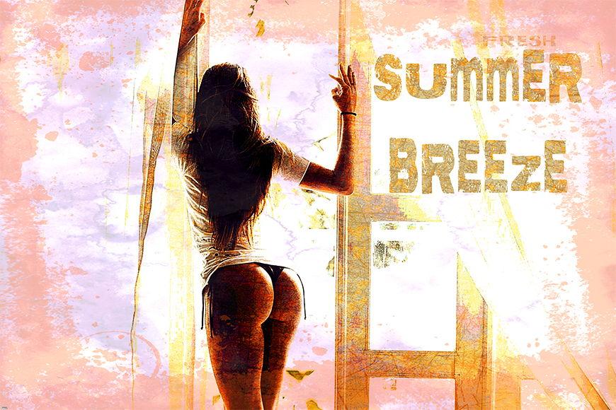 Carta da parati con foto Summer Breeze da S a XXL