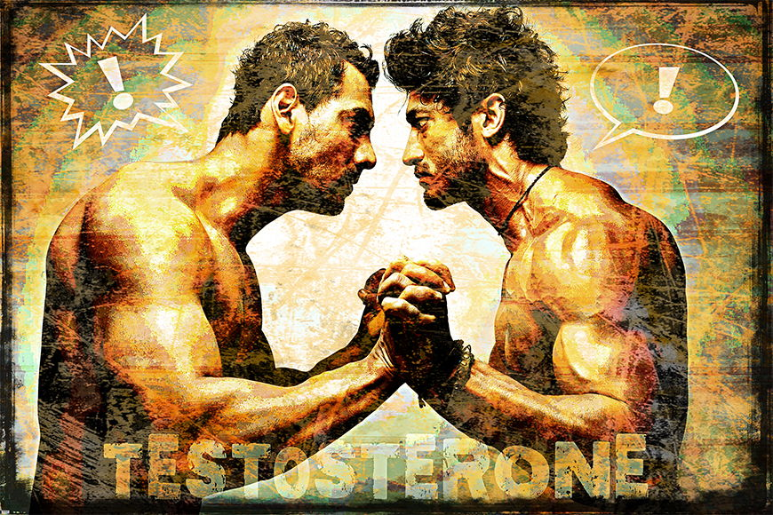 Carta da parati con foto Testosterone da S a XXL
