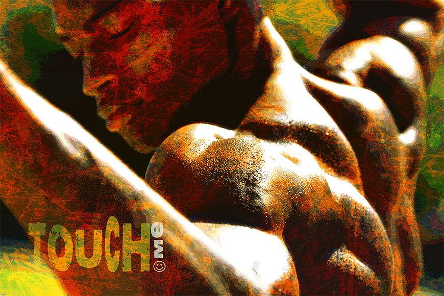 Carta da parati con foto Touch Me da S a XXL
