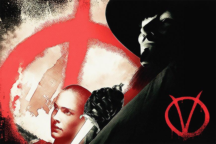 Carta da parati con foto Vendetta da 120x80cm