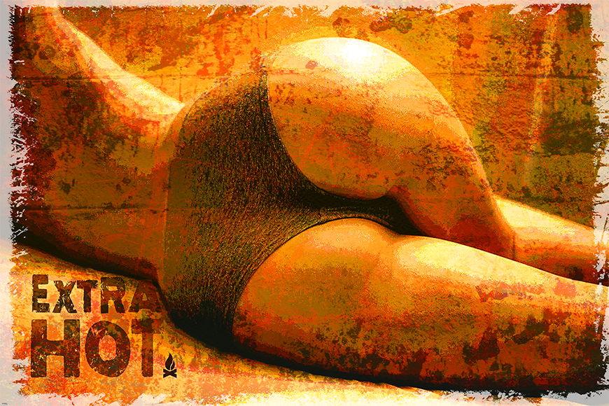 Carta da parati erotica Extra Hot da 120x80cm