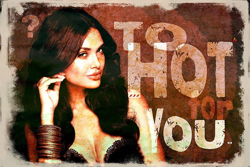 Carta da parati erotico To Hot For You da 120x80cm